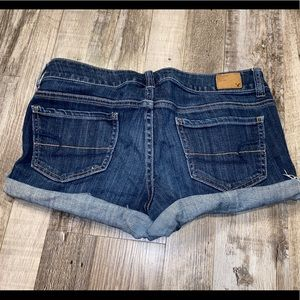 American eagle outfitters blue jean shorts